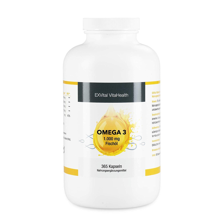Omega-3 Fischöl Softgelkapseln von EXVital