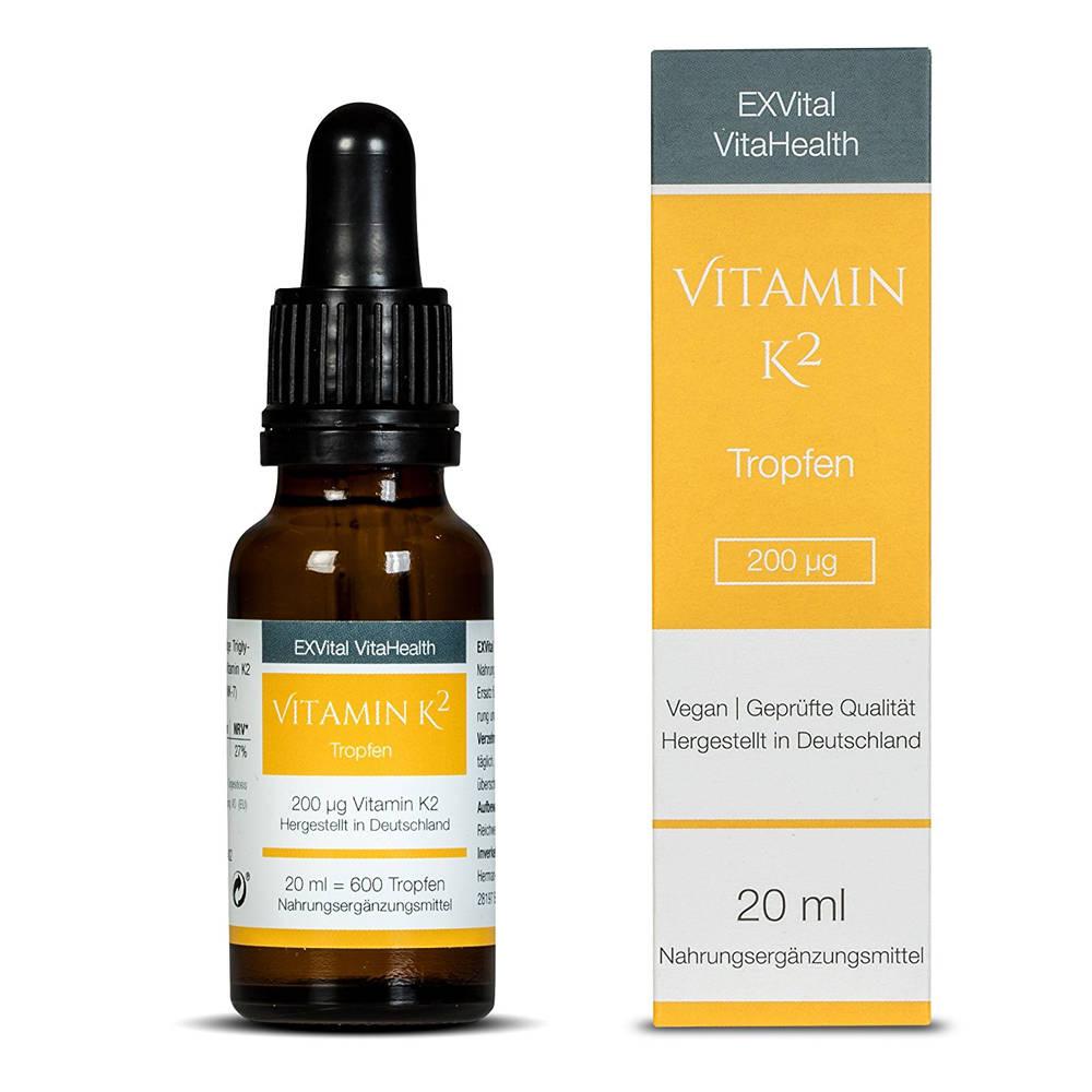 Vitamin K2 Tropfen von EXVital VitaHealth