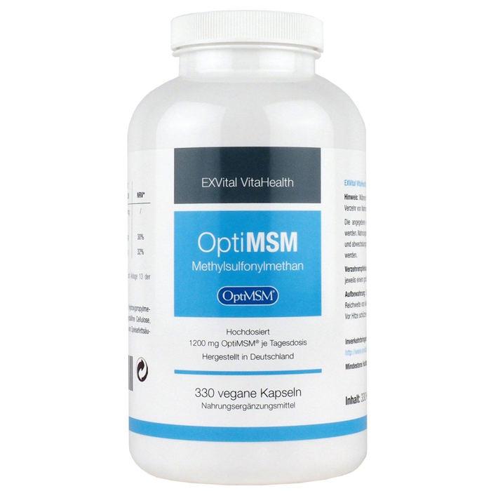 optiMSM Kapseln mit Methylsulfonylmethan von EXVital