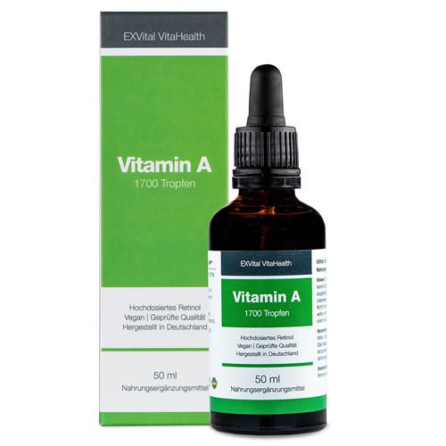 Vitamin A (Retinol) Tropfen von EXVital Vitahealth