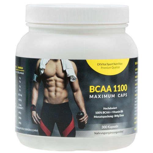 BCAA 1100 Maximum Caps Kapseln mit Vitamin B6 von EXVital Vitahealth